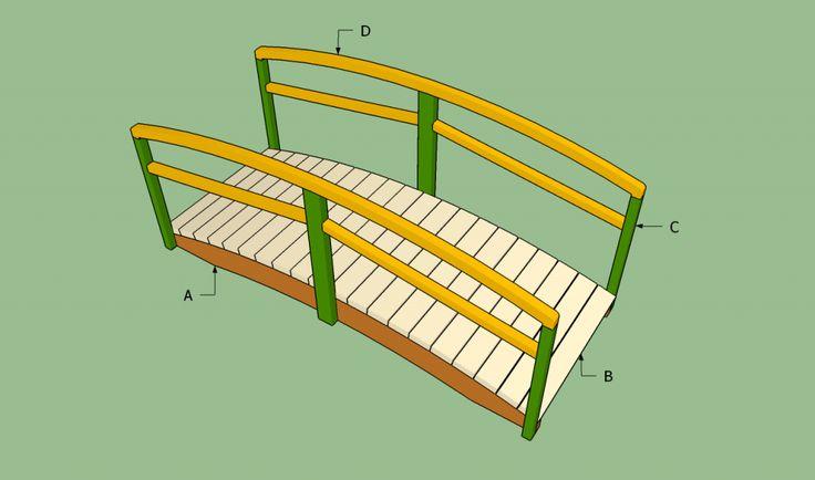 diy garden bridge plans woodworking projects plans