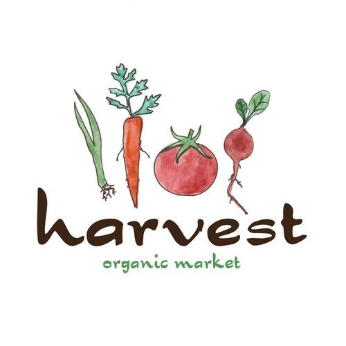 Logo done for the organic market. I drew vegetables and colored with water colors. I  use printer and my work turned into vector form using Adobe Illustrator.