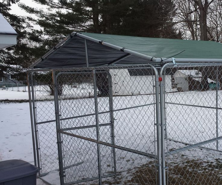 Here in Maine, we can get a lot of snow. We had just acquired a new puppy, and I was concerned with snow depth versus the size of the dog, so I wanted a spot that would stay relatively clear of snow. We had a kennel with a standard tarp & frame roof, but I knew that the snow weight would be a problem and that snow would easily blow in through the sides. I solved both problems and have a clear spot for our puppy to go potty. Instructions are based on a 10' x 10' kennel, but this method can...