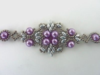 FREE beading pattern for Lotus Lace Bracelet