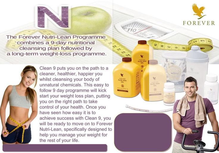 Forever Living Clean 9 Programme 9-day nutritional cleansing programme Kick-starts the Weight Management Programme Use before Forever Nutri-Lean