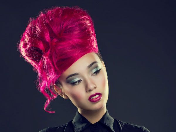 Wild Hair Color Ideas | pink hair 30 Beautiful Long Hair Updos