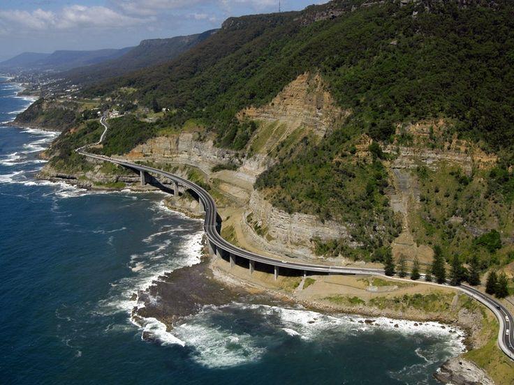 Sea Cliff Bridge Aerial