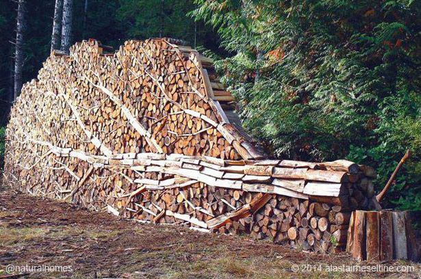This is the 'Woodpile' by Alastair Heseltine, a sculptor from Hornby Island, British Columbia, Canada. Most of Alastair's work is in woven willow making baskets and furniture. More beautiful work in wood at www.naturalhomes.org/art-of-wood.htm