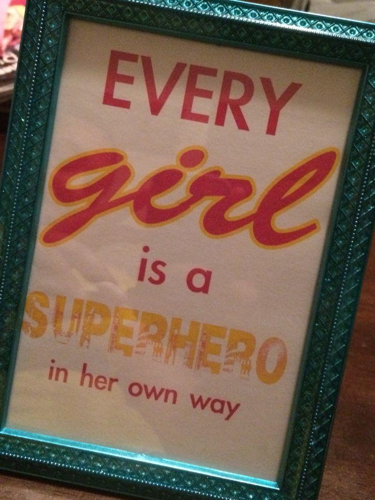 Girly superhero party centerpiece