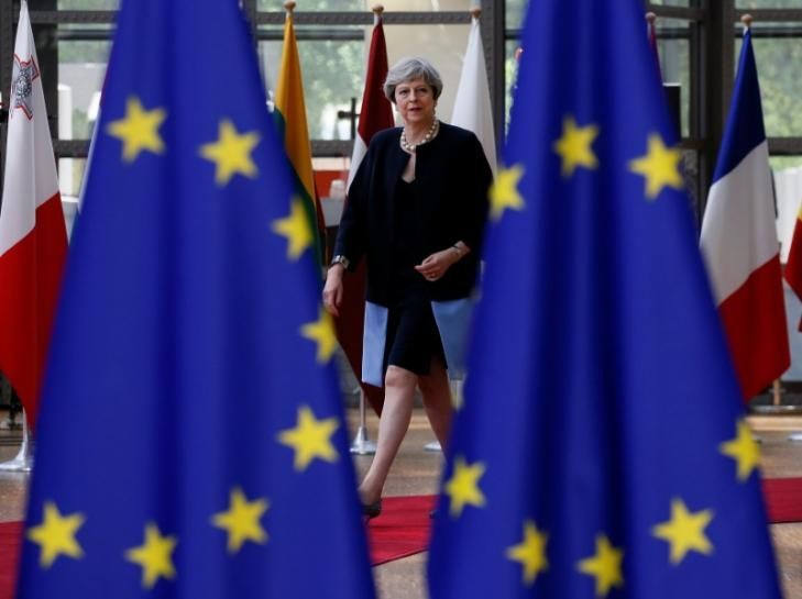 Britain's Theresa May wants a clean break for the exit from BRITAIN's EU BREXIT LIMITS IMMIGRATION. CORBYN IS SOFT ON RADICALS? TERESA MAY SHOULD HAVE ALL OF BRITAINS VOTE