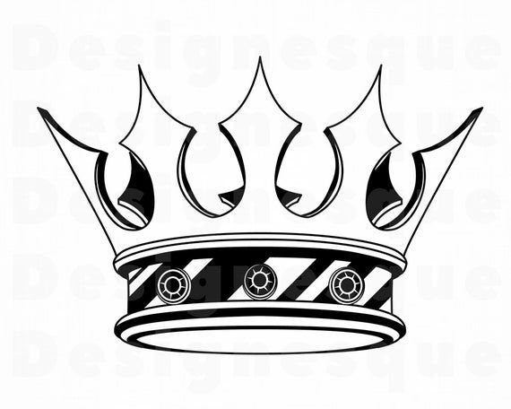 Crown 9 SVG Crown Svg King Svg Queen Svg Princess Svg Etsy in 2020 Crown drawing King crown drawing Crown tattoo design