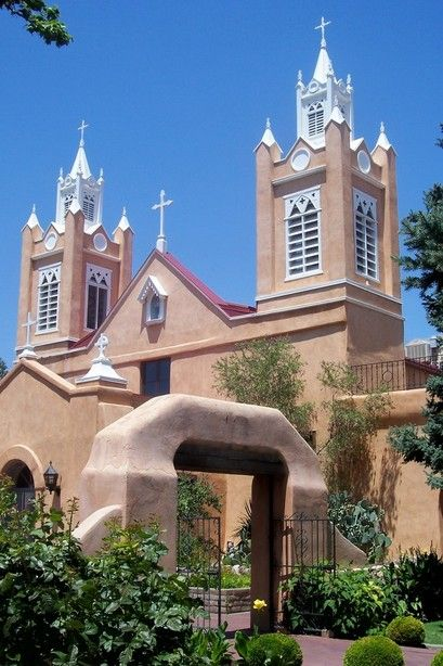 San Felipe de Neri Church ~ Old Town Plaza, Albuquerque, New Mexico (photo by Gary Wayne Parks)....