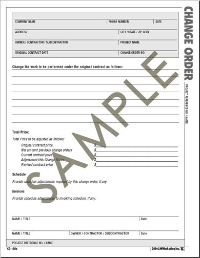 Amazing Construction Change Order Form Atlas Construction Business Forms   Save  Time And Money With The .