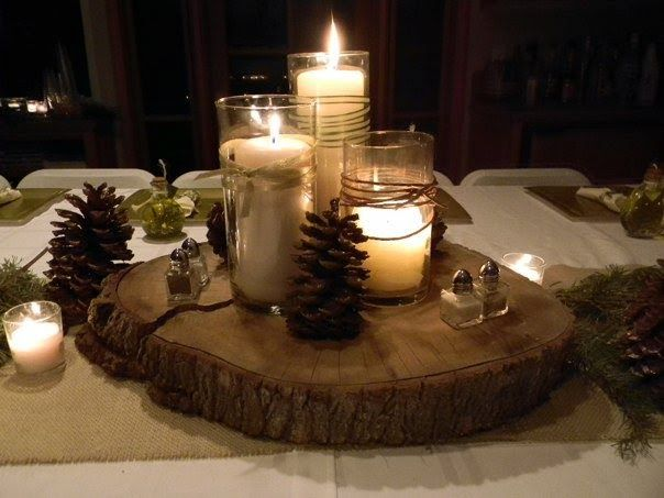 tree stump table decorations  Google Search 17 best Table Decorations images on Pinterest
