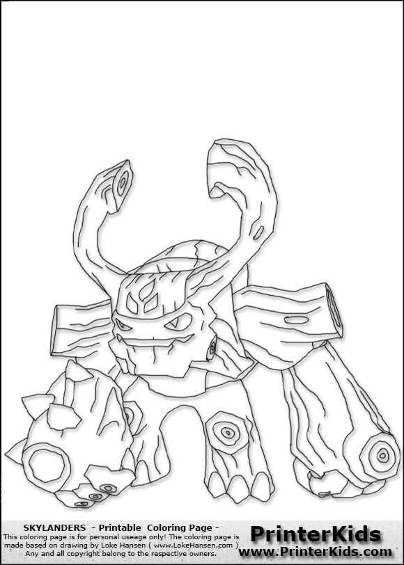 skylanders coloring pages are