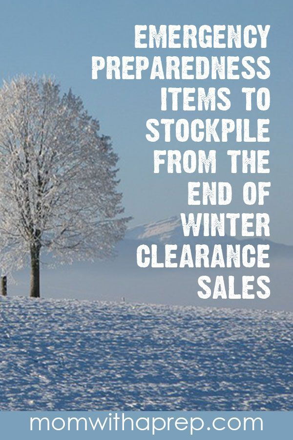 End of Winter Clearance Sales  - Build your emergency stockpile on the cheap with the end of season clearance sales at your local retailers. Keep an eye on the sales cycles to know the best time to stock up! #salescycles #endofwinter #stockpile   via @momwithaprep