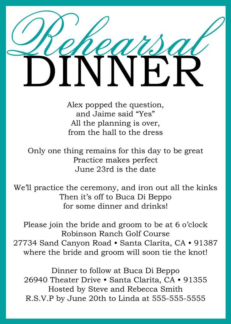 55 best Rehearsal Dinner Ideas images on Pinterest | Weddings ...