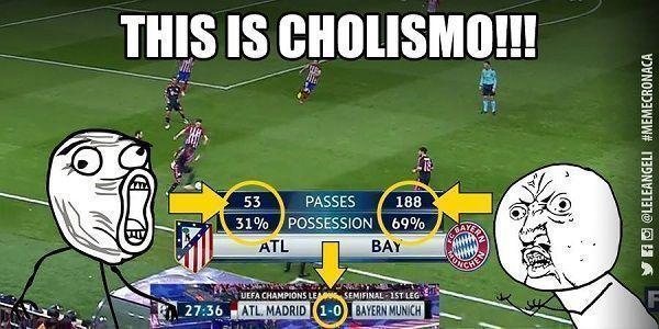Tak wyglądała pierwsza połowa meczu Atletico Madryt vs Bayern Monachium • Bayern miał ogromną przewagę w posiadaniu piłki • Zobacz >> #football #soccer #sports #pilkanozna