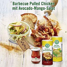 Barbecue pulled chicken. Genial.  Mit Lebensbaum doppelt lecker. Fotografie und Packaging von adworx.