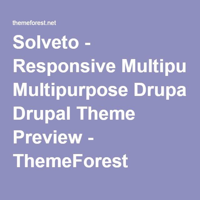 Solveto - Responsive Multipurpose Drupal Theme Preview - ThemeForest