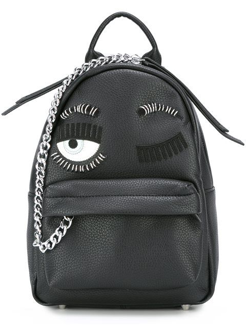 Shop Chiara Ferragni mini 'Flirting' backpack in Julian Fashion from the world's…