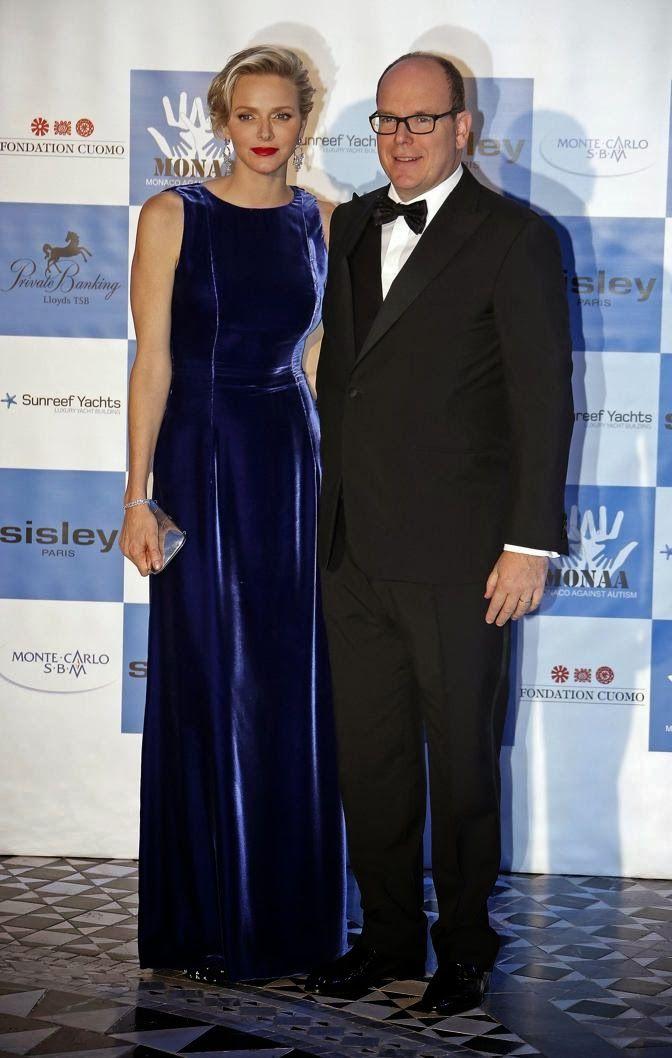 MYROYALS &HOLLYWOOD FASHİON: Prince Albert and Princess Charlene Attend a Charity Gala