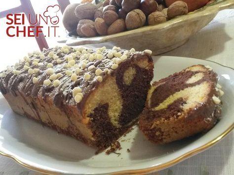 - Plumcake bianco e nero - Plumcake bicolore, soffice e ricoperto con nutella, delizioso!