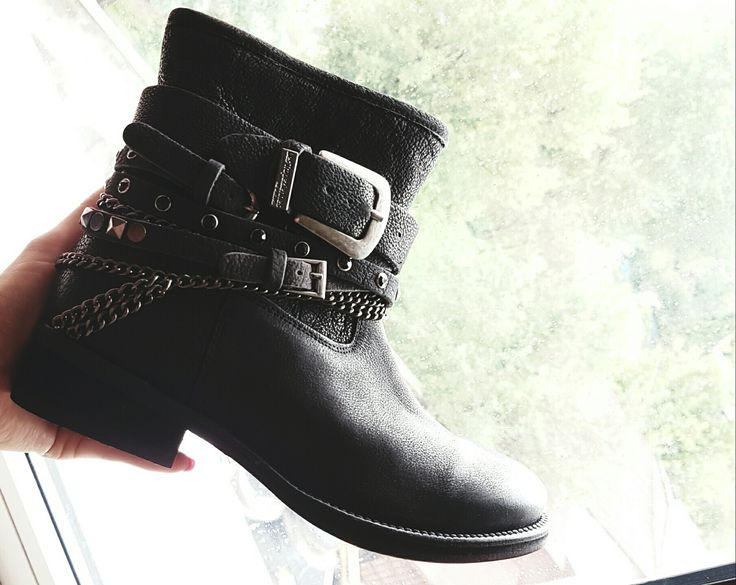 rock style leather boots