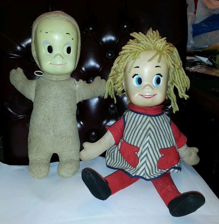 Casper The Friendly Ghost Doll And Sister Belle Doll With Pull Strings #Mattell