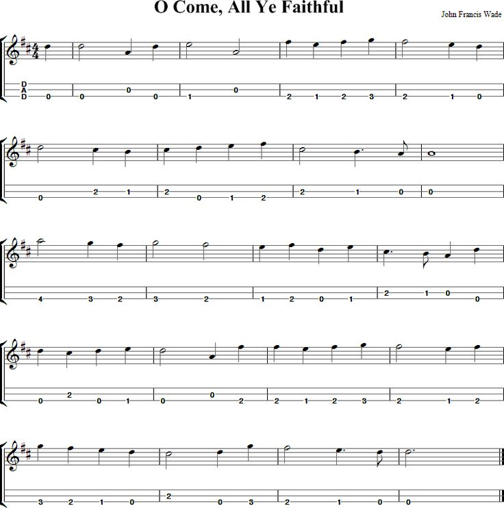 O Come All Ye Faithful Sheet Music for Dulcimer - http://dulcimermusic.org/music/o-come-all-ye-faithful/