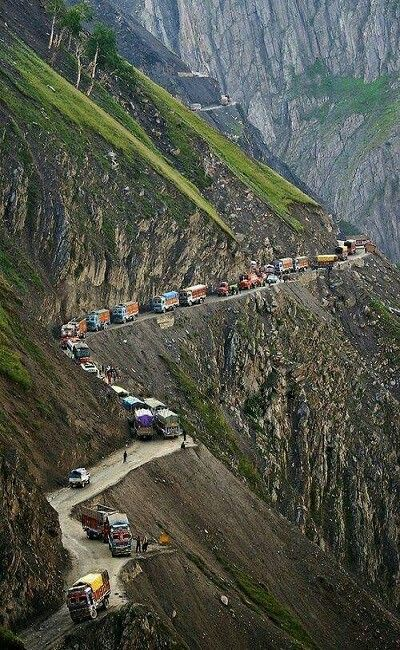 One of the most dangerous roads in the world, Koji La Pass, Kashmir India