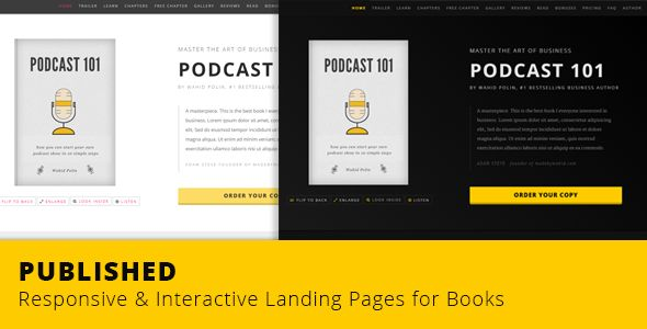 PUBLISHED - Responsive & Interactive Landing Page for Books (Marketing) - http://buyonlinewebsite.com/published-responsive-interactive-landing-page-for-books-marketing/