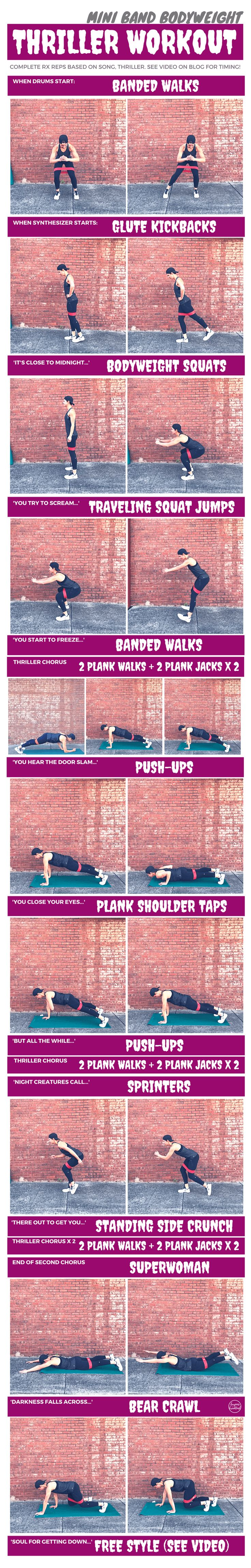 Mini Band Bodyweight Thriller Workout   Burpees for Breakfast