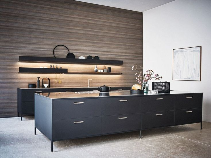Modular kitchen with island UNIT - COMPOSIZION 4 by Cesar Arredamenti design García Cumini Associati