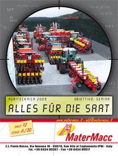 Obiettivo semina! Campagna pubblicitaria per la fiera Agritecnica di Hannover 2009.