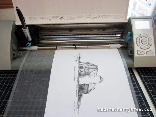 How to draw sketches with the Silhouette Cameo