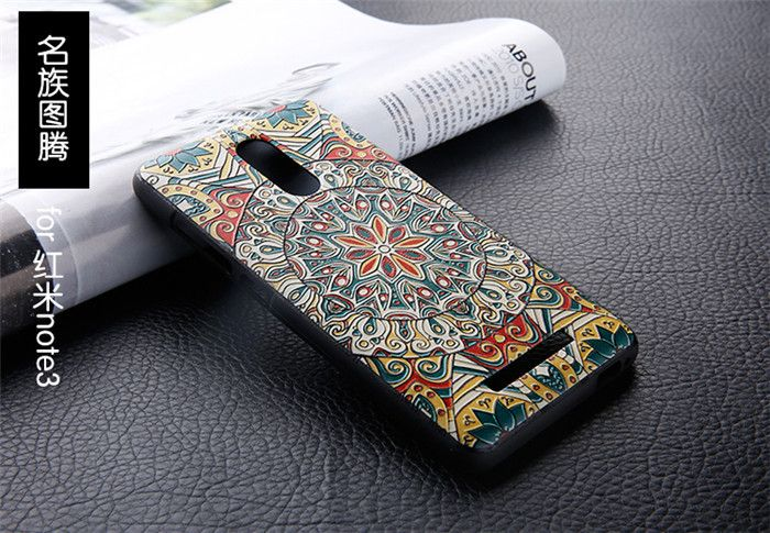 For Xiaomi Note 3 Case 3D Relief Painting Protective Case Back Cover For Redmi Note 3 Pro Smartphone