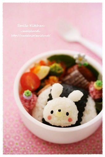 Mini bunny bento