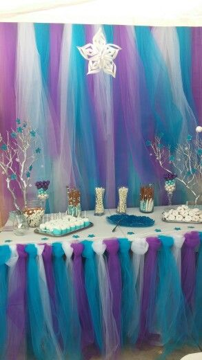Frozen candy table birthday cakes pinterest frozen - Decoraciones de bares ...