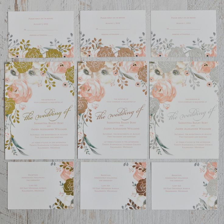 887 best wedding invitation trends images on pinterest wedding whimsical rose foil invitation stopboris Choice Image