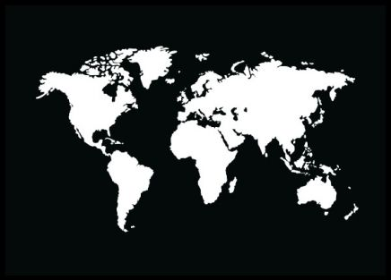 18 best world map prints images on pinterest gold print new black white graphic poster with world map popular print that do just fine in sciox Gallery