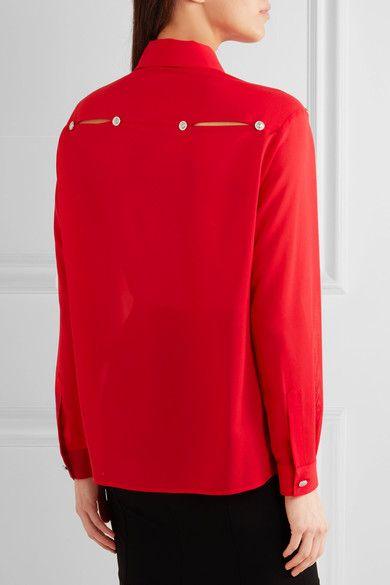 Versus Versace | Cutout chiffon shirt | NET-A-PORTER.COM