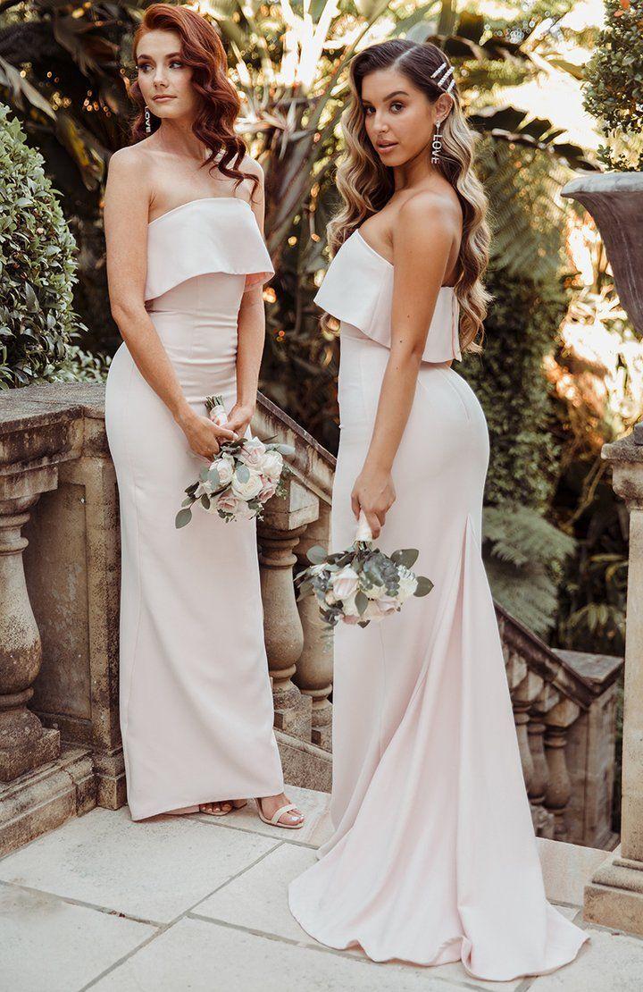 Aubrey Maxi Dress Blush Bridesmaid Dresses Strapless Pink Bridesmaid Dresses Bridesmaid Dresses With Sleeves [ 1110 x 720 Pixel ]