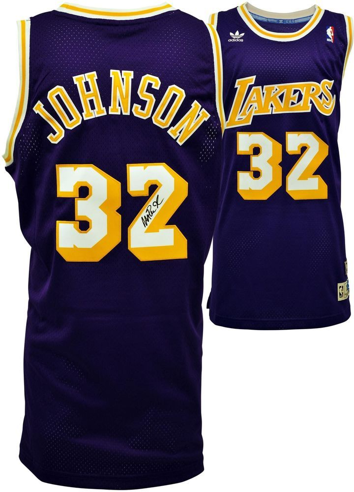 102dac4e99a Magic Johnson LA Lakers Autographed Adidas Swingman Purple Jersey - Fanatics  #sportsmemorabilia #autograph #basketballjersey