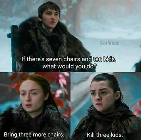 Oh Arya. Game of Thrones