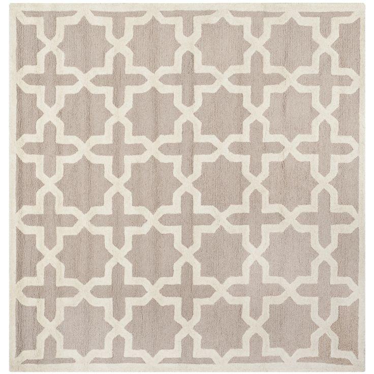 safavieh handmade moroccan cambridge beige wool rug 8u0027 square by safavieh - Square Area Rugs