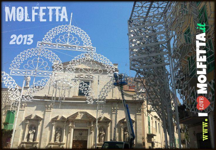 the lights for the festival in the city of Molfetta 2013 - the feast of the Madonna dei Martiri www.ilovemolfetta.it