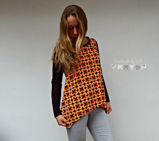 Lady Indira, Zipfelshirt, Papierschnittmuster - farbenmix Online-Shop - Schnittmuster, Anleitungen zum Nähen