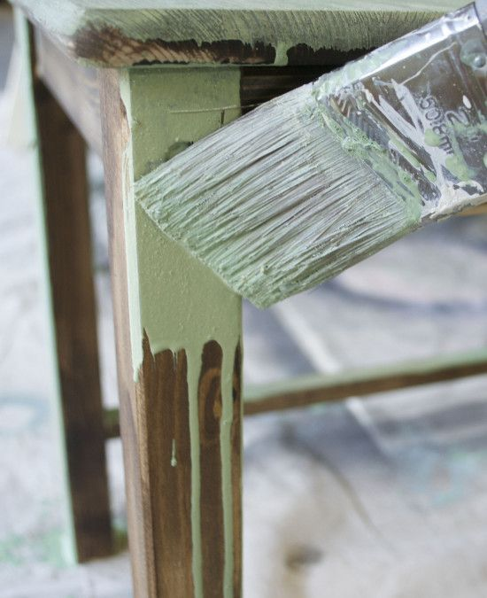 DIY tutorial for painting furniture with milk paint.