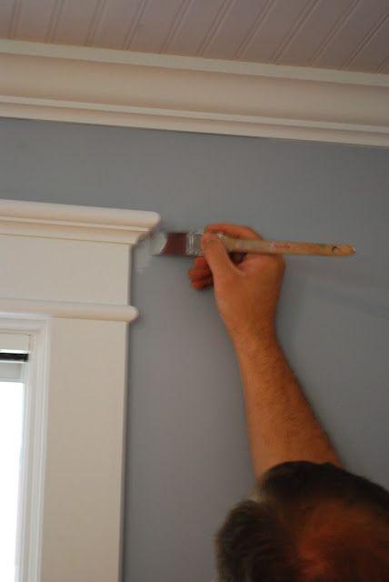example of DIY custom trim molding around doors and windows.  #trim #DIY #molding