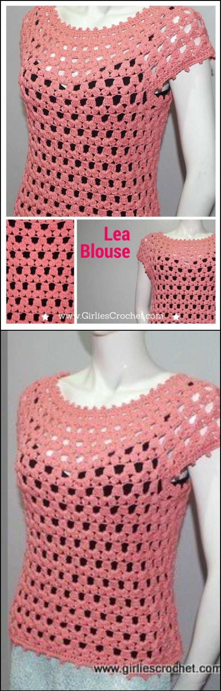 50+ Quick & Easy Crochet Summer Tops - Free Patterns - Page 7 of 9 - DIY & Crafts