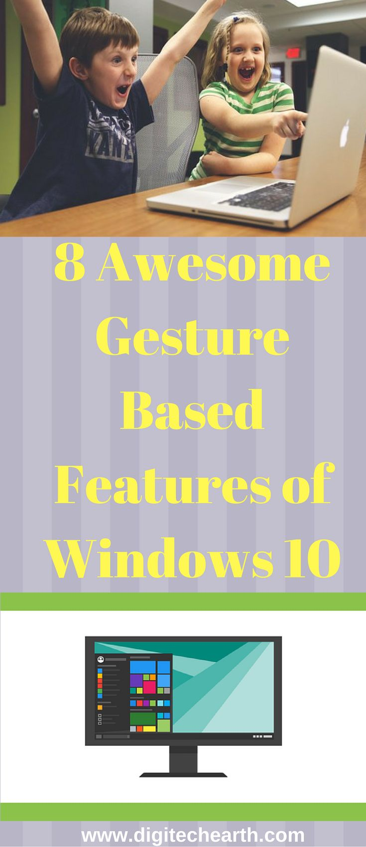 In Windows 10, there are some unique and useful gesture based features for the users that make their work easy and convenient. But most of the users are unaware of these features. These are 8 awesome gesture based features of windows 10 which works on one touch gestures like in any smart phone.