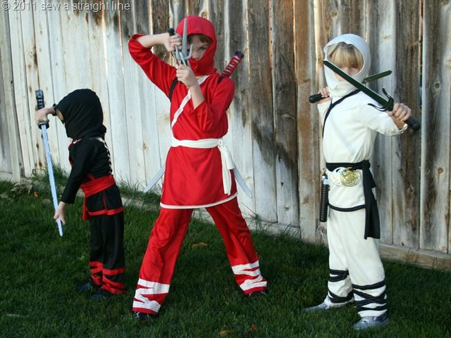 Ninja costumes DIY. most helpful one yet!