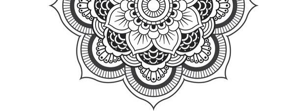 Half mandala for sternum